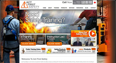 Act First Safety Website Redesign