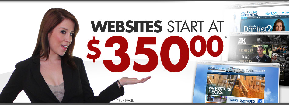 Websites Starting at $350.00