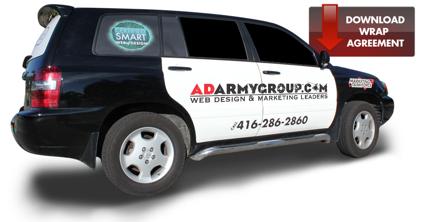 Toronto Car Wrap Design and Production - Ad Army Group